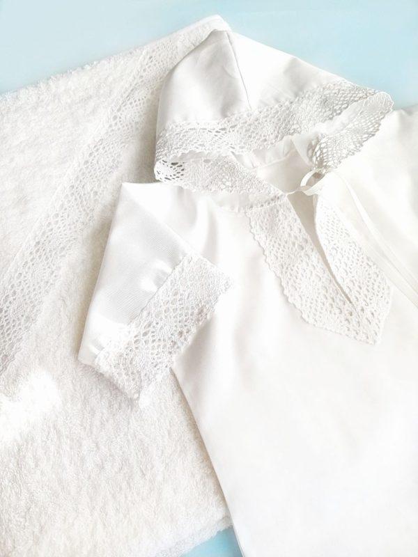 """Крестильная рубашечка с капюшоном """"Свет мой"""""""