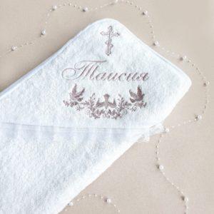 """Именное крестильное полотенце """"Таисия"""""""