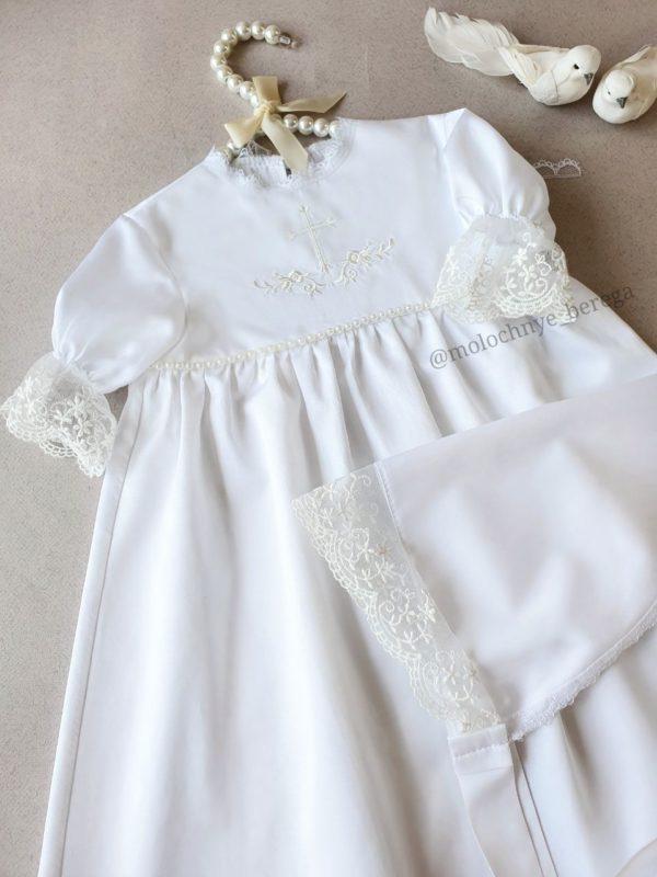 """Крестильное платье с вышивкой """"Очарование"""""""