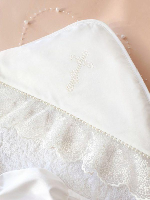 """Крестильный набор """"Бусинка"""" с полотенцем"""