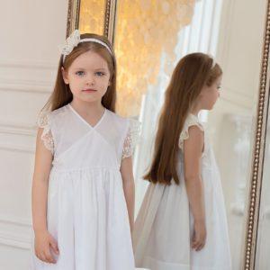 Платье для девочки с рукавами-крылышками