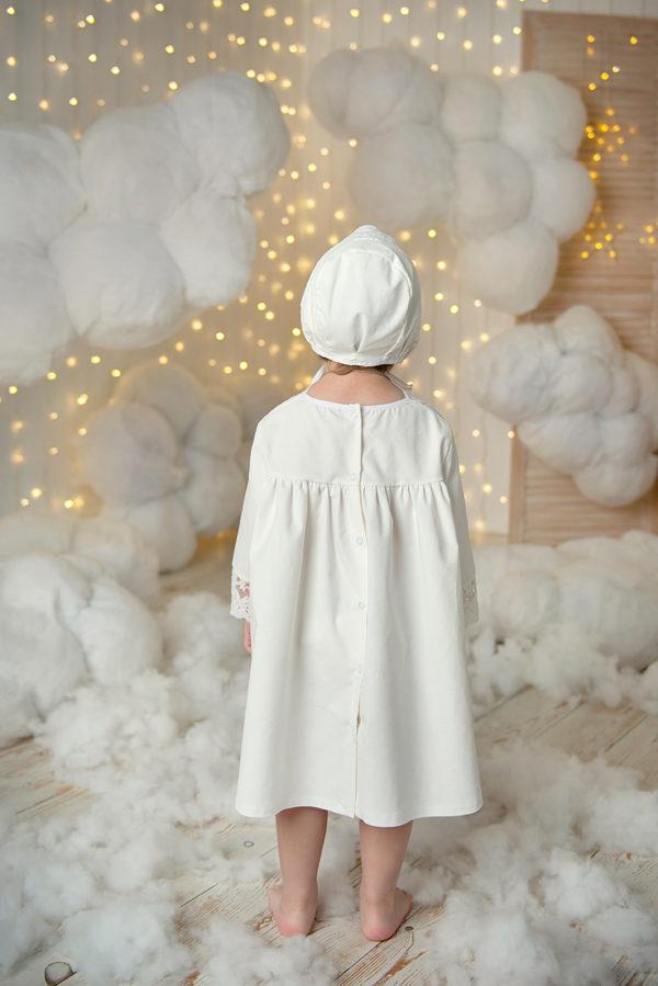 """Тёплый крестильный наряд для девочки """"Зимняя сказка"""""""