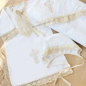 """Крестильный набор с полотенцем """"Былина"""" с вышивкой"""
